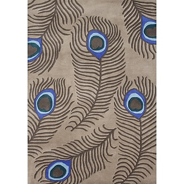 James Bond Alliyah Peacock Tannin Area Rug; 5' x 8'
