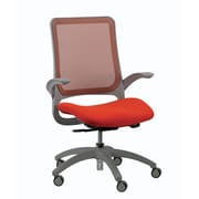 Eurotech Seating Hawk Mesh Desk Chair; Orange