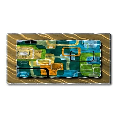 All My Walls 'Retro Rectangles' by Ash Carl Designs Graphic Art Plaque