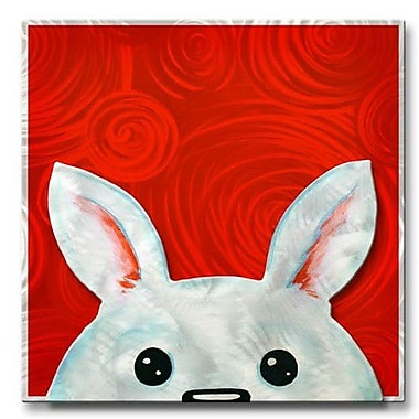 All My Walls 'Peekaboo Bunny' by Melanie Jerdon Painting Print Plaque
