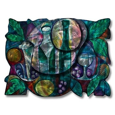 All My Walls 'Vivacious Vino' by Ash Carl Designs Painting Print Plaque