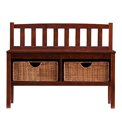 Wildon Home Espresso Storage Bench
