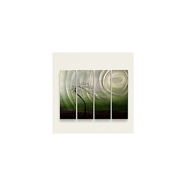All My Walls 'Wither' by Jaime Zatloukal Best 4 Piece Painting Print Plaque Set