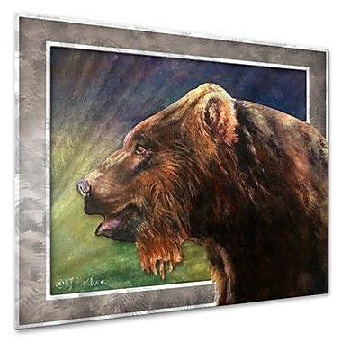 All My Walls 'Red Griz' by Nancy Jean Busse Painting Print Plaque