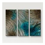 All My Walls 'Summer Solstice' by Brittney Hallowell 3 Piece Painting...