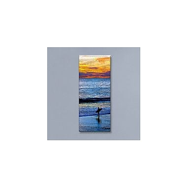 All My Walls 'Sunset Surfing' by Jerome Stumphauzer Photographic Print Plaque