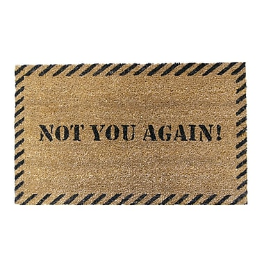 Rubber-Cal, Inc. Not You Again Unwelcome Doormat