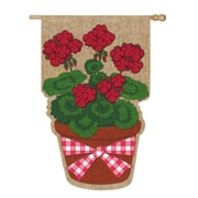 Evergreen Enterprises, Inc Summer Geranium Vertical Flag