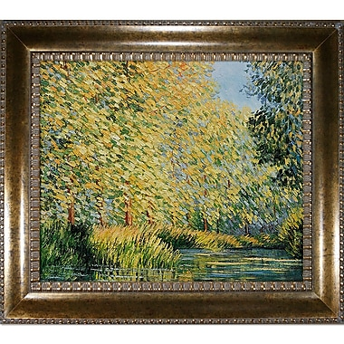 Tori Home 'Bend in the Epte River' by Claude Monet Framed Oil Painting Print on Canvas