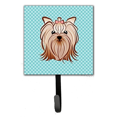 Caroline's Treasures Checkerboard Yorkie Yorkshire Terrier Leash Holder and Wall Hook
