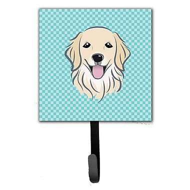 Caroline's Treasures Checkerboard Golden Retriever Leash Holder and Wall Hook