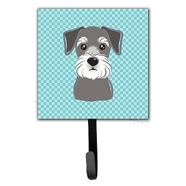 Caroline's Treasures Checkerboard Schnauzer Leash Holder and Wall Hook
