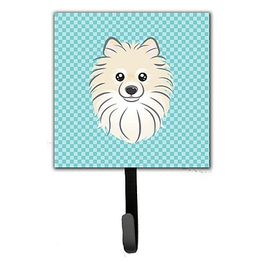 Caroline's Treasures Checkerboard Pomeranian Leash Holder and Wall Hook