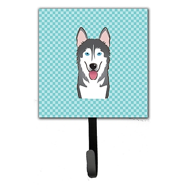 Caroline's Treasures Checkerboard Alaskan Malamute Leash Holder and Wall Hook