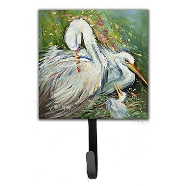 Caroline's Treasures Egret in The Rain Leash Holder and Wall Hook