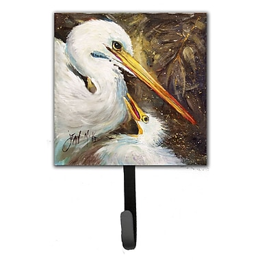 Caroline's Treasures Egret Feeding Baby Leash Holder and Wall Hook
