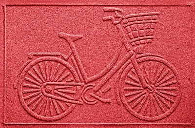 Bungalow Flooring Aqua Shield Nantucket Bicycle Doormat; Solid Red