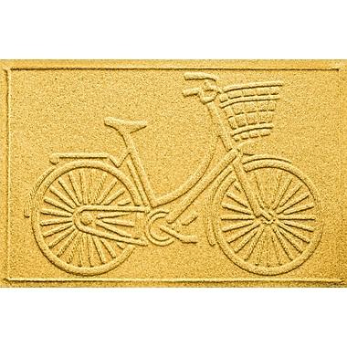 Bungalow Flooring Aqua Shield Nantucket Bicycle Doormat; Yellow