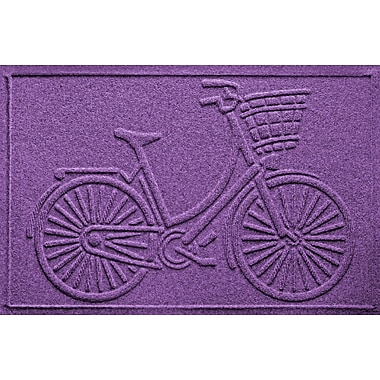 Bungalow Flooring Aqua Shield Nantucket Bicycle Doormat; Purple
