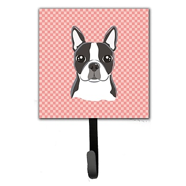Caroline's Treasures Checkerboard Boston Terrier Wall Hook