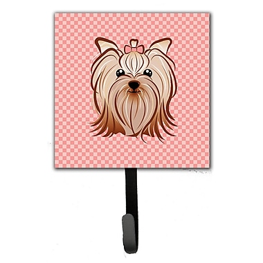 Caroline's Treasures Checkerboard Yorkie Yorkshire Terrier Wall Hook