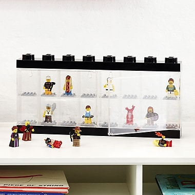 LEGO by Room Copenhagen Mini figure Display Case for 16+; Black