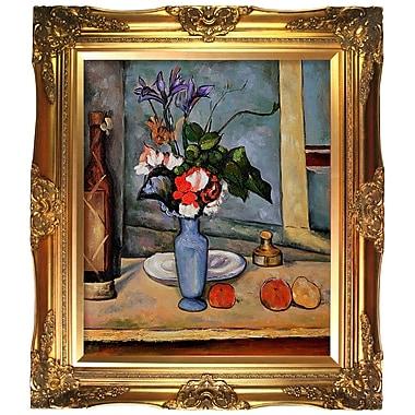 Tori Home La Vase Bleu by Paul Cezanne Framed Painting