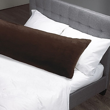Westex Faux Fur Body Pillow Case; Espresso