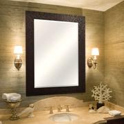 MCSIndustries Bronze Grid Beveled Mirror