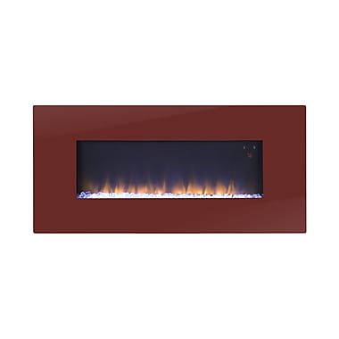 Homestar Paris Wall Mount Electric Fireplace; Red