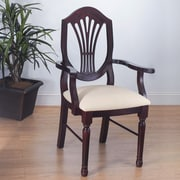 Benkel Seating Elegant Arm Chair; Dark Mahogany