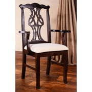 Benkel Seating Chippendale Arm Chair; Walnut