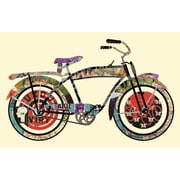 Edge Home Vintage Bicycle Collage Framed Graphic Art