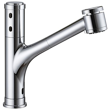 Cinaton Touchless Deck Mounted Kitchen Faucet; Brushed Nickel
