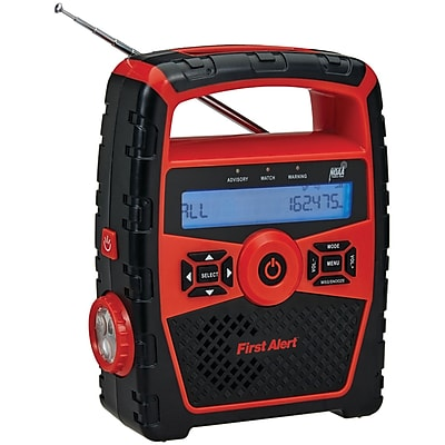 First Alert Portable AM/FM Weather Radio With Alarm Clock