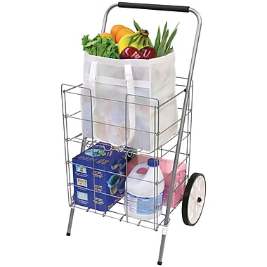 Helping Hand 2-Wheel Folding Cart With Folding Shelf (HBCLFQ3915D)