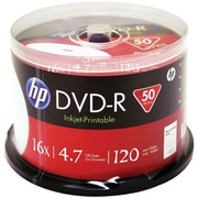 HP 4.7GB DVD-RS, Printable Spindle, 50/Pack (HOODM16WJH050)
