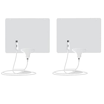 2-Pack Mohu Leaf 50 Amplified Indoor Antenna