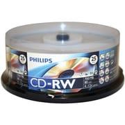 Philips 700mb CD-RWS, 25/Pack (HOOCDRW8012)