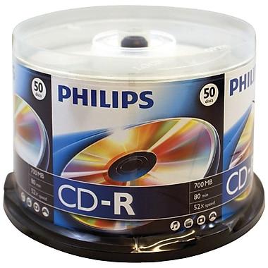 Philips 700mb 80-min 52x CD-RS, 50/Pack (HOOD52N600)