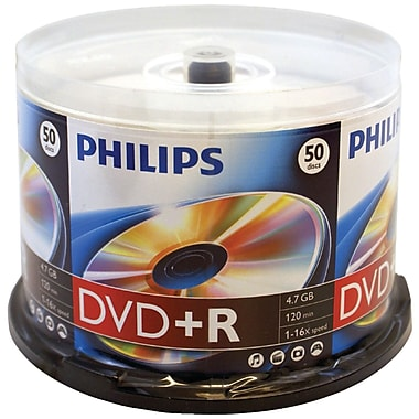 Philips 4.7gb 16x DVD+RS, 50/Pack (HOODR4S6B50F)