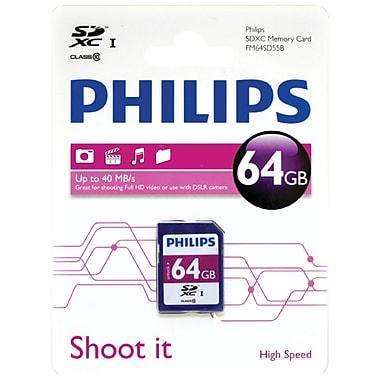 Philips 64GB Class 10 SDXC Card (HOOFM64SD55B)