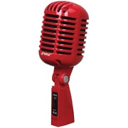 Pyle Classic Retro-style Dynamic Vocal Microphone (red)
