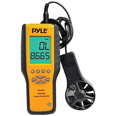 Pyle 9-volt Digital Anemometer/thermometer With Air Flow Measuring