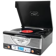 Pyle Home Bluetooth Retro Vintage Classic Style Turntable Vinyl Record Player With USB/MP3 Computer Recording