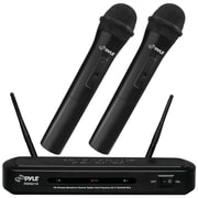 Pyle Pro Fm Wireless Dual-frequency Microphone Receiver System With 2 Handheld Microphones
