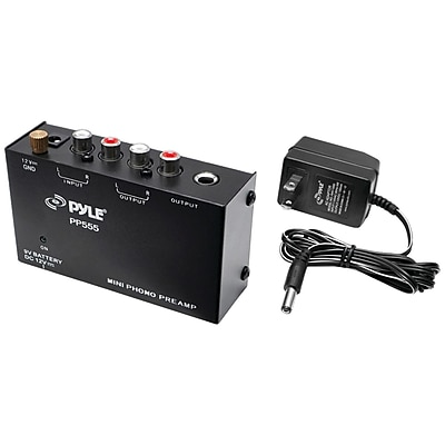 Pyle Pro Ultracompact Phono Turntable Preamp
