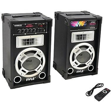 Pyle Pro Dual 800-watt Disco Jam Powered Two-way PA Bluetooth Speaker System