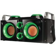 QFX Green Rechargeable Bluetooth Party PA Boombox (green)