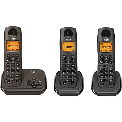 RCA Element Series Dect 6.0 Cordless Phone With Caller Id & Digital Answering System (3-handset System)